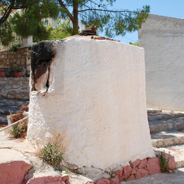 """""""Greek bread oven, Halki"""" stock image"""