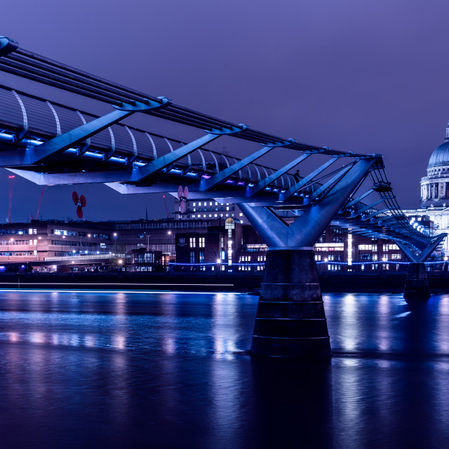 """Millennium Bridge, London"" stock image"