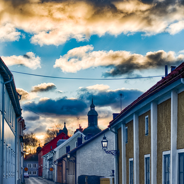 """Vadstena sky"" stock image"