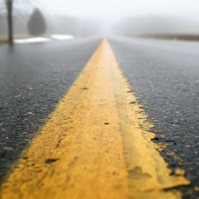 """Wet Road"" stock image"