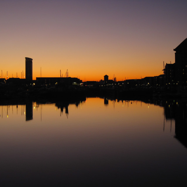 """Swansea Marina"" stock image"