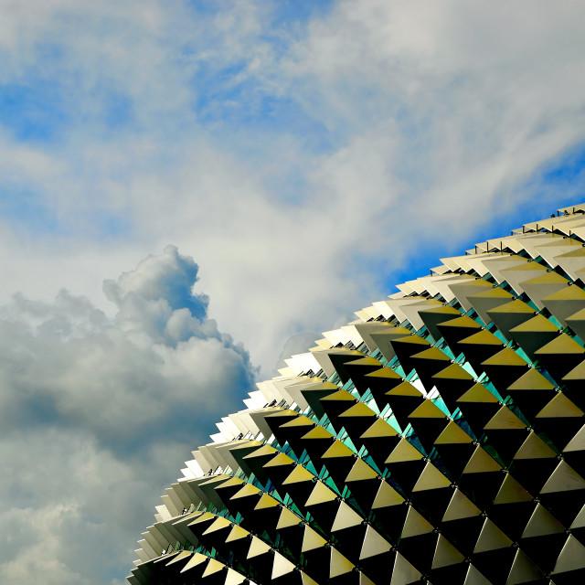 """Esplanade Theater, Singapore"" stock image"