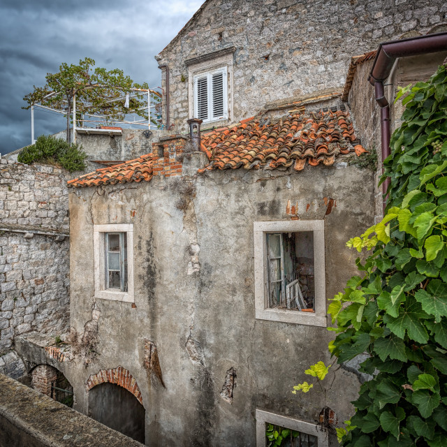"""Dubrovnik Wall Cottage"" stock image"