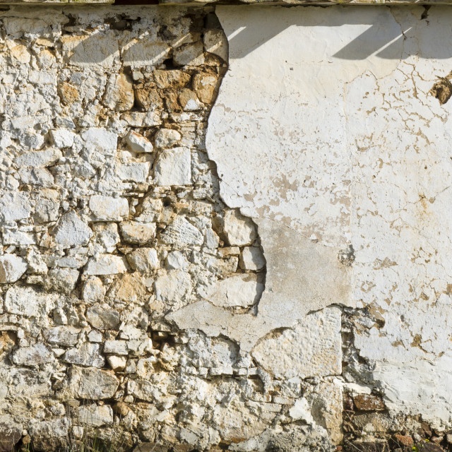 """""""Fragment of an old wall the fallen off plaster"""" stock image"""