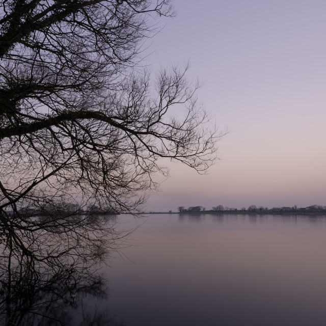 """Lough Neagh Sunset"" stock image"