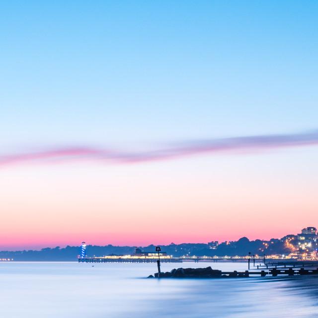"""Bournemouth Sunset"" stock image"