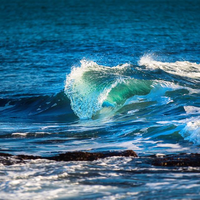 """Beautiful Blue Ocean Wave"" stock image"