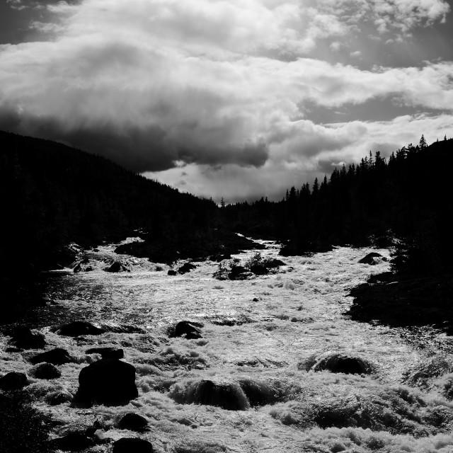 """""""Måna River"""" stock image"""