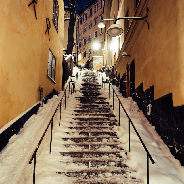 """Winter Steps in Stockholm"" stock image"