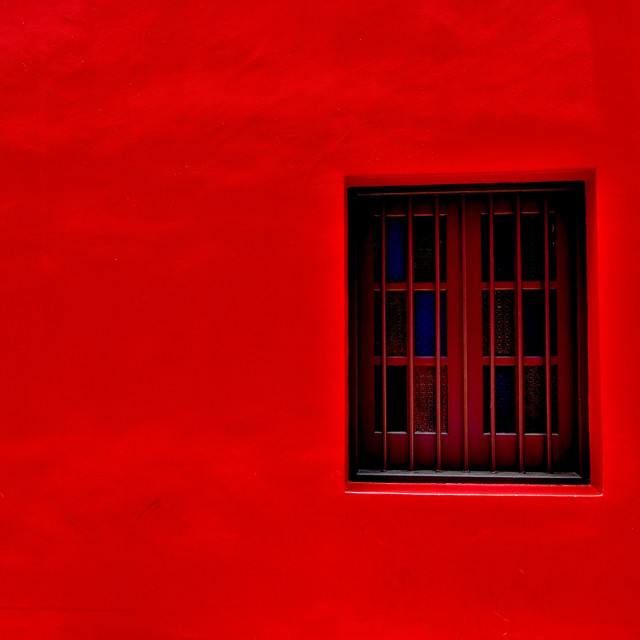 """Red Wall"" stock image"