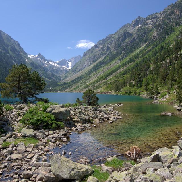 """Gaube Lake"" stock image"