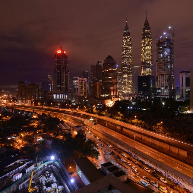 """""""Kuala Lumpur City Scape"""" stock image"""