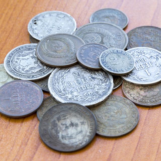 """""""Old expired coins. USSR coins and silver coins"""" stock image"""
