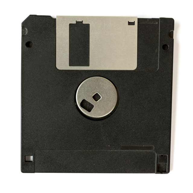 """Black floppy disk"" stock image"