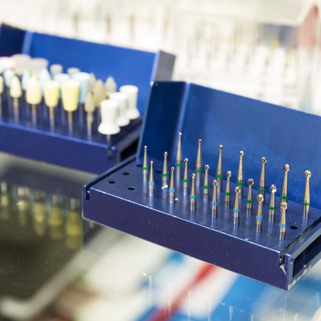 """Dental instruments for stomatology practice"" stock image"