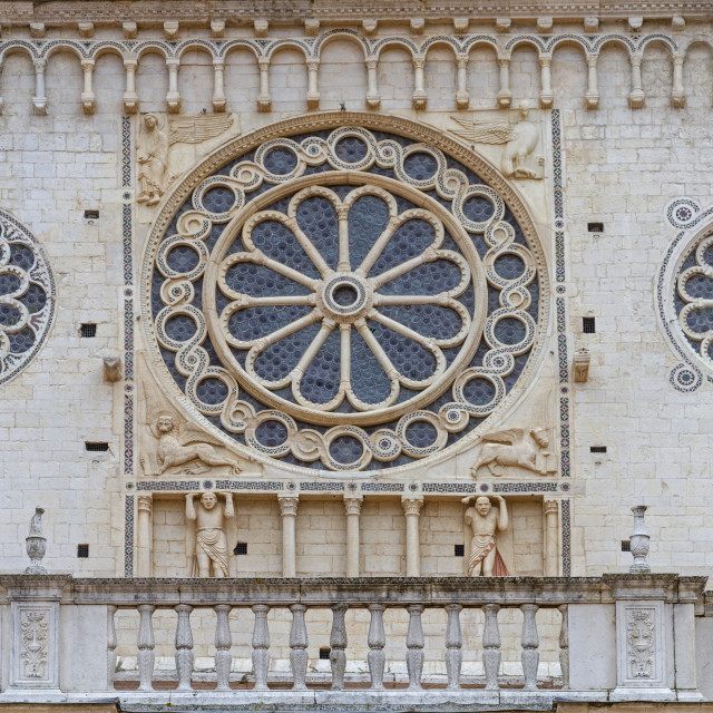 """cathedral detail in Spoleto"" stock image"