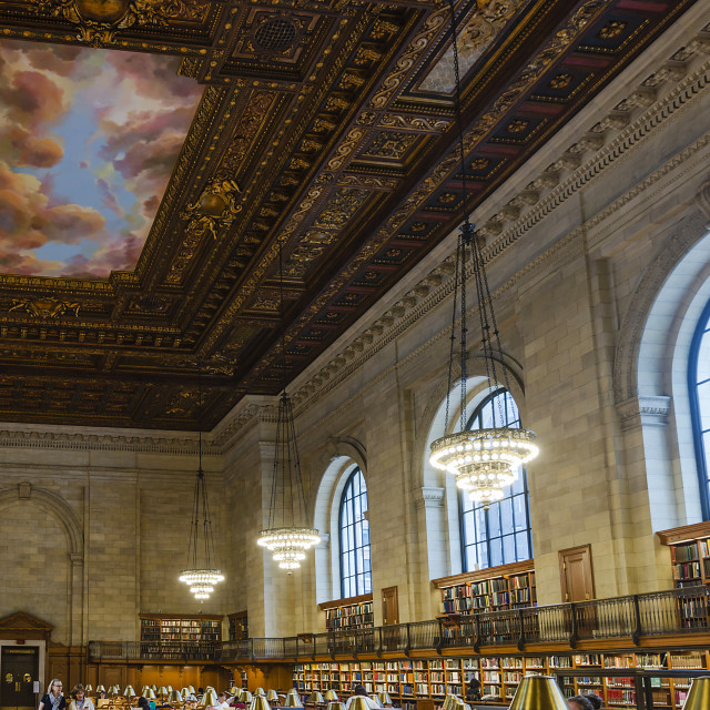 """New York public library"" stock image"