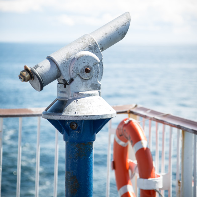 """""""Telescope on a ferry"""" stock image"""