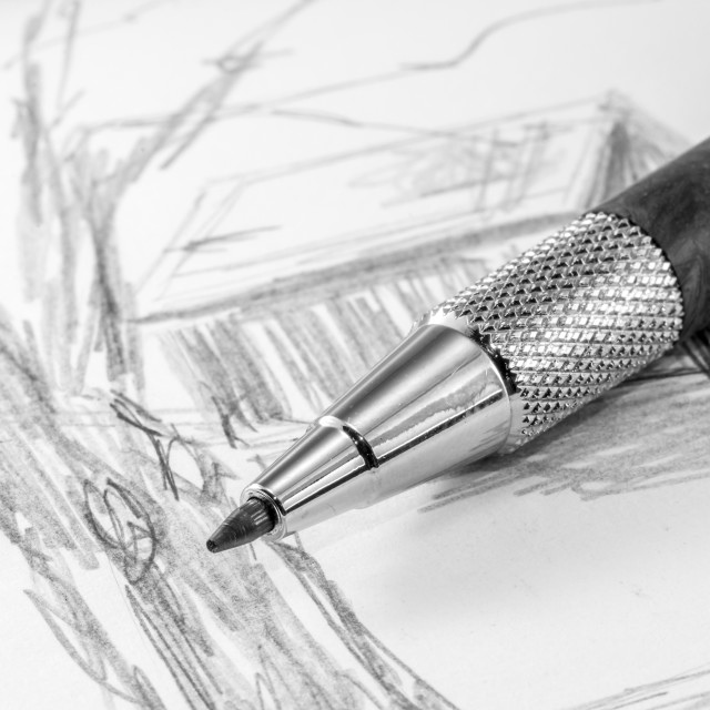 """Artists Sketching Pencil"" stock image"
