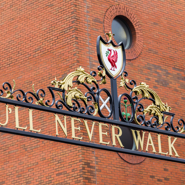 """You'll Never Walk Alone"" stock image"