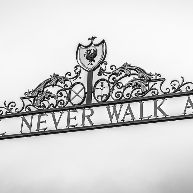 """Shankly Gates (monochrome)"" stock image"