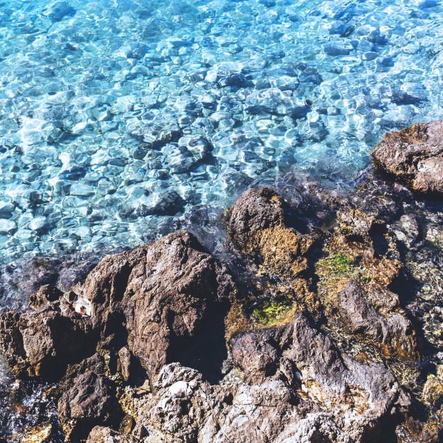 """Clear water in Adriatic Sea, Croatia"" stock image"