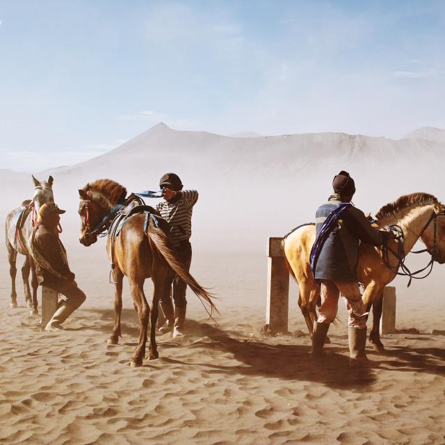 """Bromo Horsemen"" stock image"