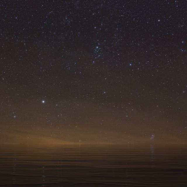 """Milky way sea"" stock image"
