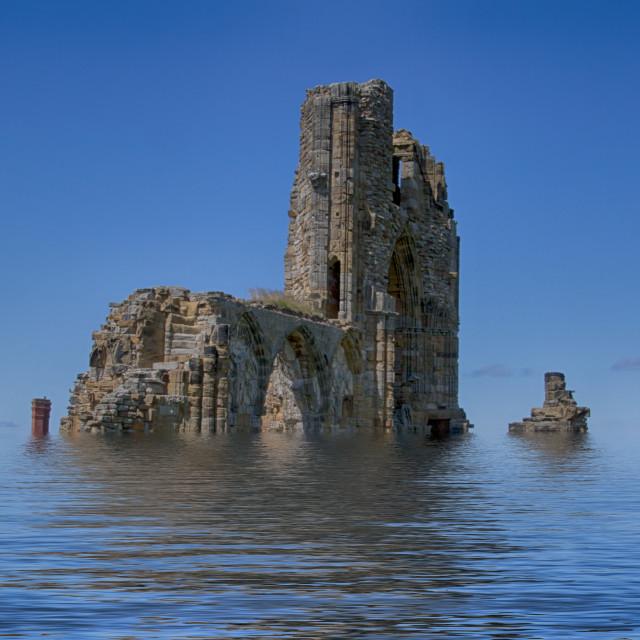"""""""Castle submerged"""" stock image"""