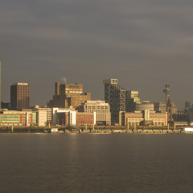 """Liverpool Waterfront Panorama"" stock image"