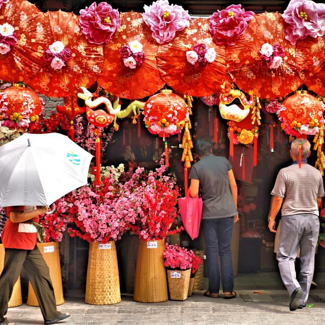 """""""Chinese New Year umbrella"""" stock image"""