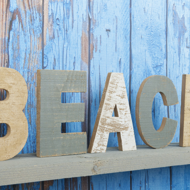 """""""Beach background with text"""" stock image"""