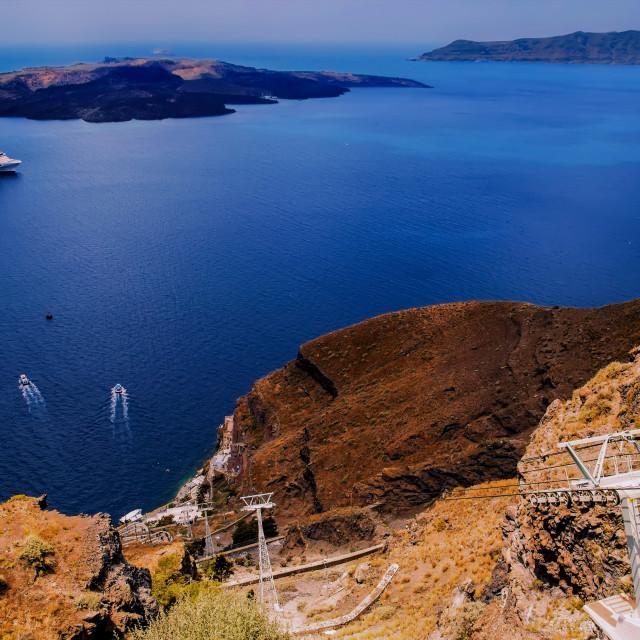 """Santorini island"" stock image"