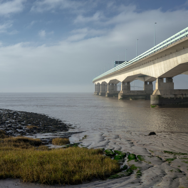 """Severn Crossing At Severn Beach 3"" stock image"