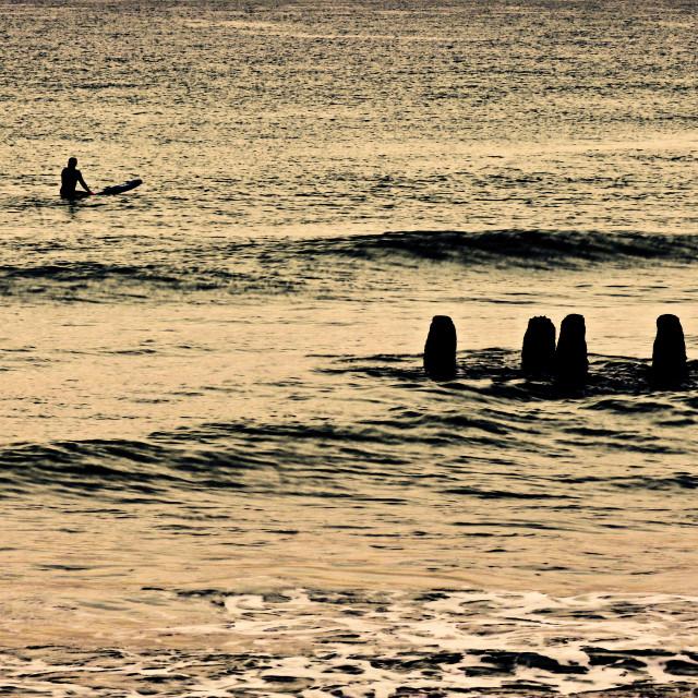 """A lonley surfer"" stock image"
