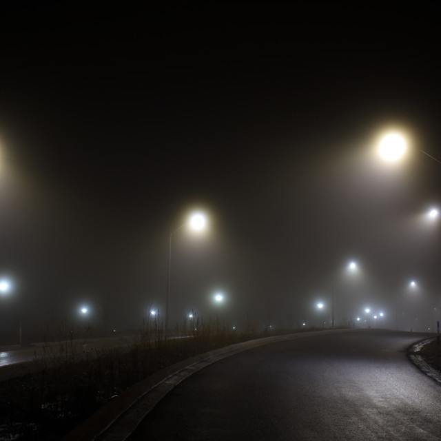 """Foggy Road"" stock image"