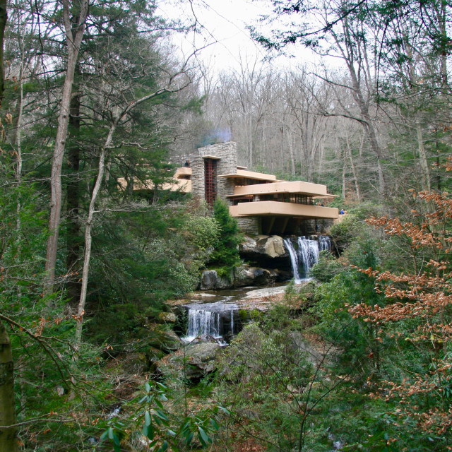 """FallingWater by Frank Lloyd Wright"" stock image"