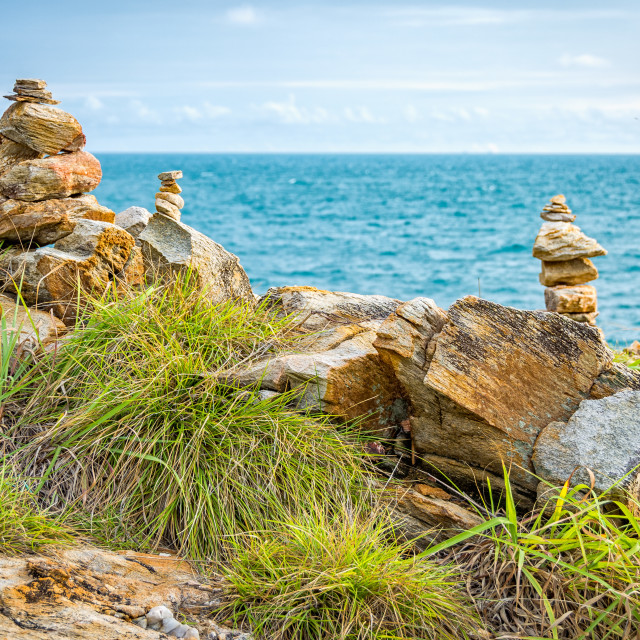 """Sea view with rocks"" stock image"