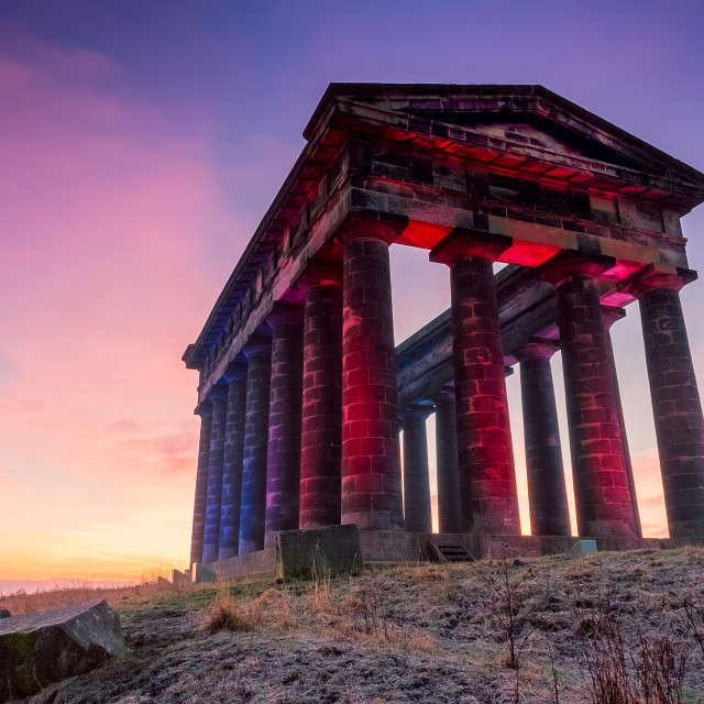 """Sunrise Penshaw Monument"" stock image"
