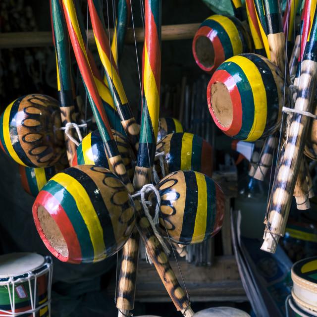 """Handcrafts in Modelo market in Salvador de Bahia"" stock image"