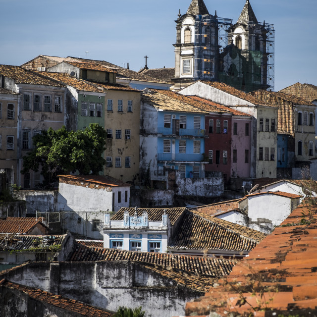"""""""Panoramic of Pelourinho district in Salvador do Bahia"""" stock image"""