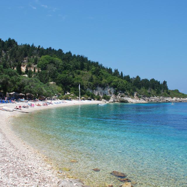 """Manadendri beach, Paxos"" stock image"