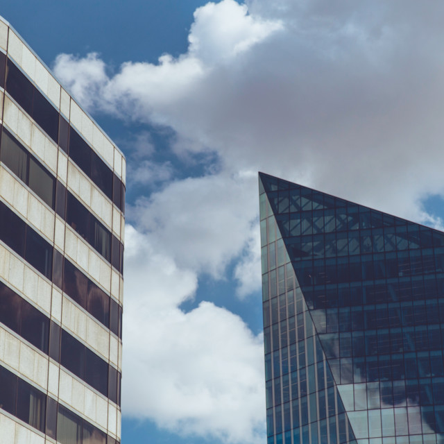 """Modern office buildings in London"" stock image"
