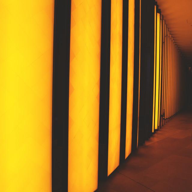 """Yellow Tunnel"" stock image"