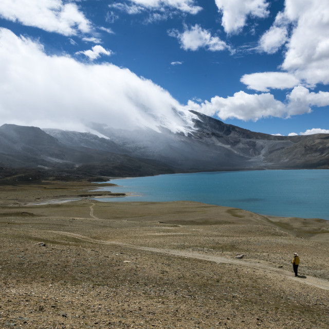 """Tibet Plateau Lake, 4800 meters above sea level"" stock image"