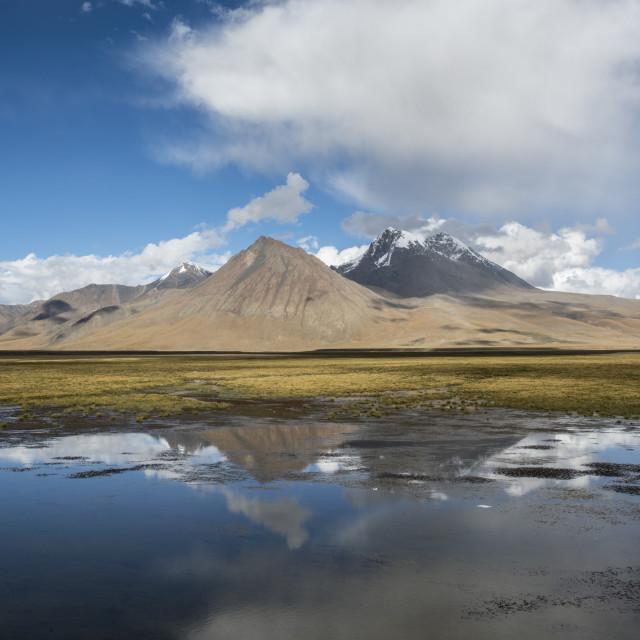 """Tibet Plateau of the lake"" stock image"