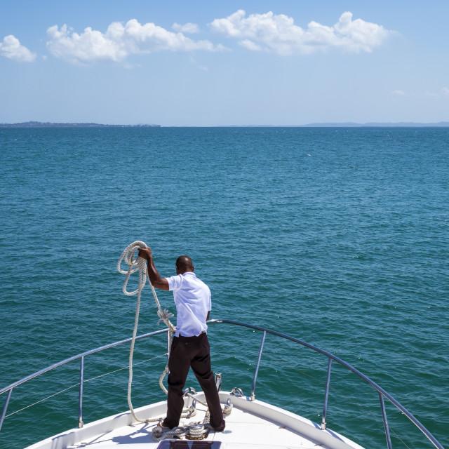 """""""Tourism in Todos los Santos Bay in Salvador de Bahia Brazil"""" stock image"""