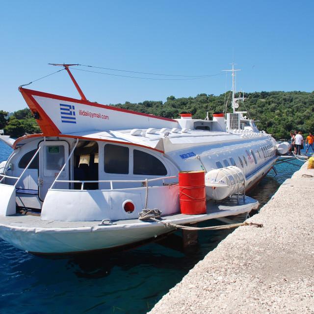 """Paxos hydrofoil, Greece"" stock image"