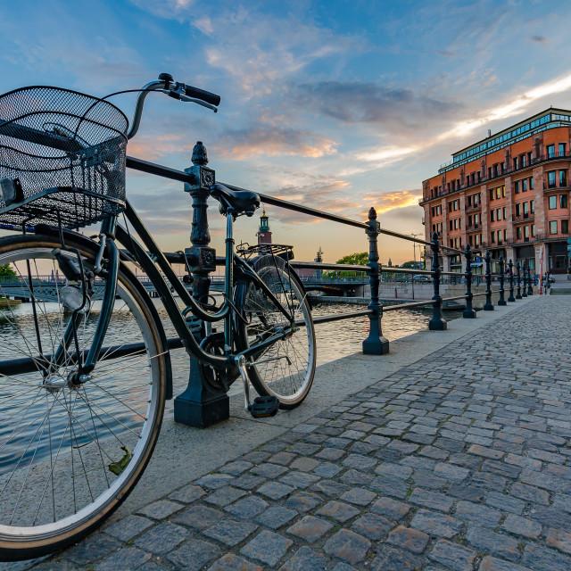 """Blissful bicycle"" stock image"