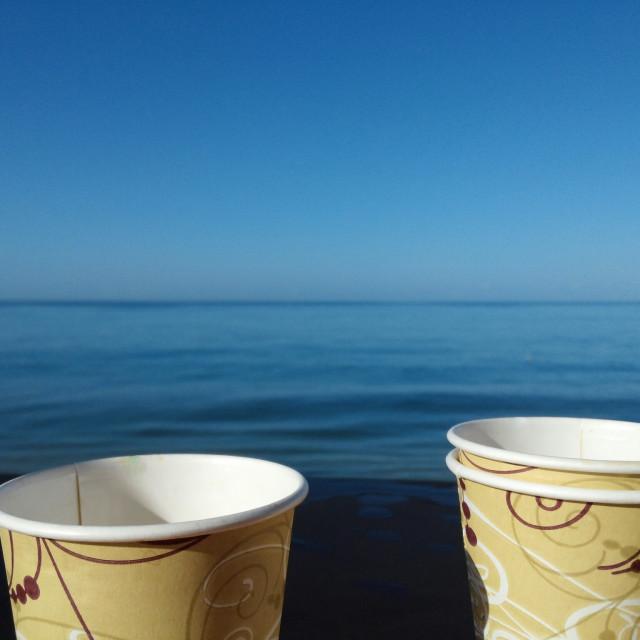 """MORNING JOE IN PARADISE"" stock image"